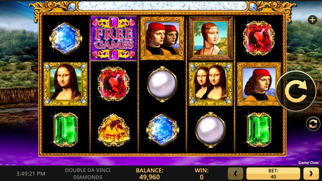 Double Da Vinci Diamonds Slot reels