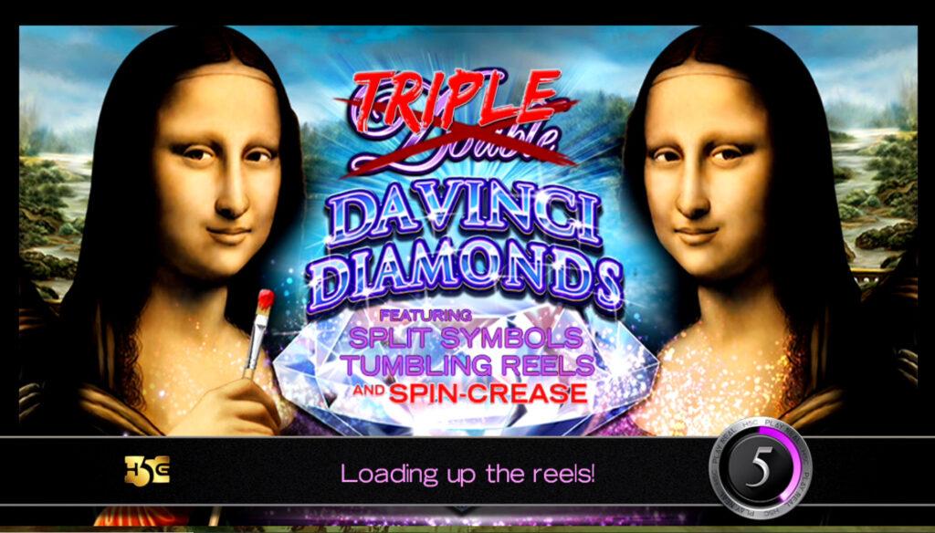 Triple Double Da Vinci Diamonds Slot Features