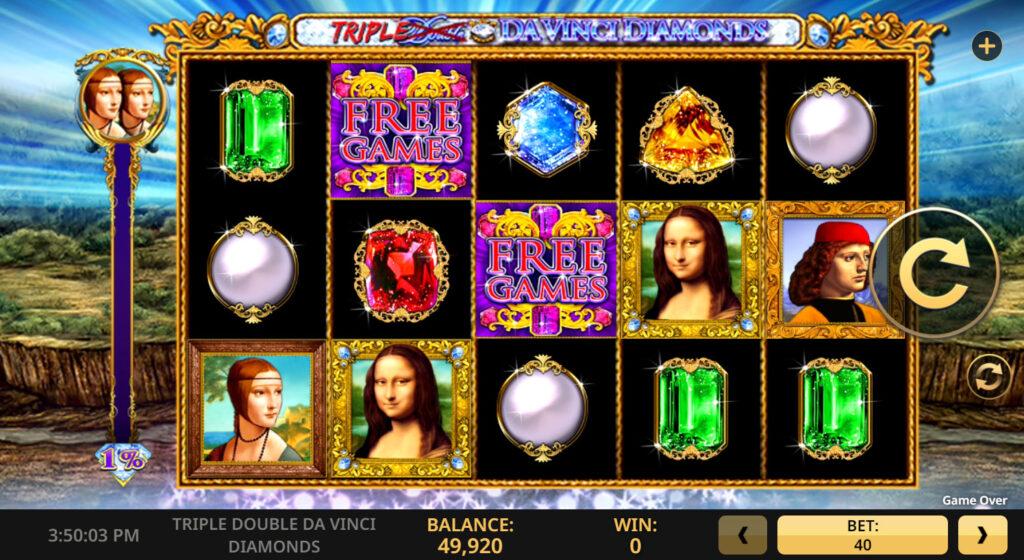 Triple Double Da Vinci Diamonds Slot Symbols